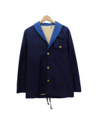 .efiLevol(エフィレボル)の古着「ショールカラージャケット」|ネイビー