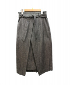 B ability(ビーアビリティ)の古着「シルク混ネップツイードロングタイトスカート」 グレー