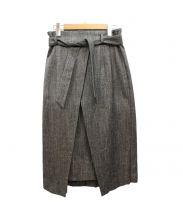 B ability(ビーアビリティ)の古着「シルク混ネップツイードロングタイトスカート」