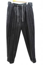 BRUNELLO CUCINELLI(ブルネロ クチネリ)の古着「ストライプウールパンツ」
