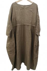 nest Robe(ネストローブ)の古着「リネンVネックコクーンワンピース」