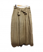 pas de calais(パドカレ)の古着「リネン混マキシスカート」