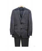 BURBERRY BLACK LABEL(バーバリーブラックレーベル)の古着「ストライプセットアップスーツ」|ネイビー