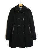 BURBERRY LONDON(バーバリーロンドン)の古着「ミドルレングスPコート」 ブラック