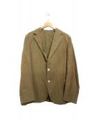 BOGLIOLI(ボリオリ)の古着「ドーヴァーコットンリソット3Bジャケット」|ベージュ