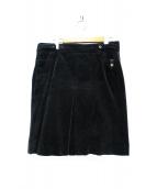 GUCCI(グッチ)の古着「コーデュロイタイトスカート」|ブラック