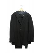 Takizawa Shigeru(タキザワ シゲル)の古着「シアサッカーセットアップスーツ」|ブラック