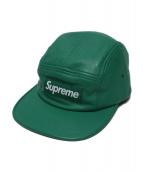 Supreme(シュプリーム)の古着「レザーキャンプキャップ」 グリーン