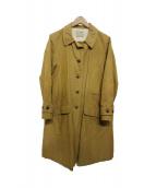 a piece of LIbrary(アピースオブライブラリー)の古着「リネン混ステンカラーショップコート」