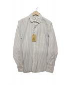 BLACK FLEECE BY Brooks Brothers(ブラック フリース バイ ブルックス ブラザーズ)の古着「ストライプシャツ」|スカイブルー