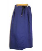 GRAMICCI(グラミチ)の古着「マキシタックスカート」|パープル