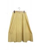 ENFOLD(エンフォルド)の古着「グログランボックスフレアスカート」