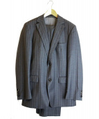 HUGO BOSS(ヒューゴボス)の古着「ストライプセットアップスーツ」 グレー