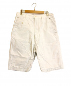 JUNYA WATANABE CdG MAN PINK(ジュンヤワタナベマンピンク)の古着「ハーフパンツ綿ギャバショートパンツ」|ホワイト