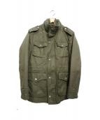 BURBERRY BLACK LABEL(バーバリーブラックレーベル)の古着「ライナー付M65ジャケット」 カーキ