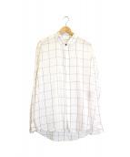 Saint Laurent Paris(サンローランパリ)の古着「チェックシャツ」 ホワイト