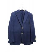 HACKETT LONDON(ハケットロンドン)の古着「ジャージーテーラードジャケット」 ネイビー