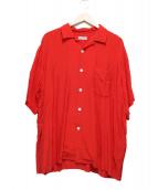 COMME des GARCONS HOMME(コムデギャルソンオム)の古着「オープンカラーシャツ」|レッド