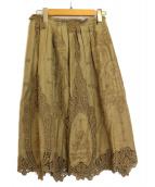 EPOCA(エポカ)の古着「ヴィンテージナチュラルレーススカート」