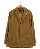 LARDINI(ラルディーニ)の古着「太畝コーデュロイ3Bジャケット」 ブラウン