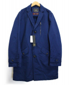 PAZZO(パッゾ)の古着「グログランショップコート」|ネイビー