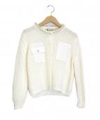 leur logette(ルルロジェッタ)の古着「ニットジャケット」 ホワイト