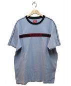 Supreme(シュプリーム)の古着「チェストストライプロゴティー」|ブルー