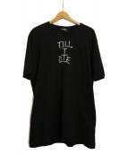 SELF MADE BY GIANFRANCO VILLEGAS(セルフ メイド バイ ジャンフランコ ヴィレガス)の古着「刺繍Tシャツ」|ブラック
