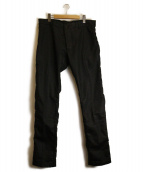 EMPORIO ARMANI(エンポリオアルマーニ)の古着「コーティングデニムパンツ」|ブラック