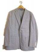 DURBAN(ダーバン)の古着「リネン混アンコンジャケット」|ホワイト×ブルー