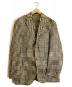 Lubiam(ルビアム)の古着「リネン混コットン織地アンコンジャケット」|ベージュ