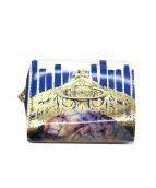 Vivienne Westwood(ヴィヴィアンウエストウッド)の古着「ラウンドジップ財布」|ホワイト×ブルー