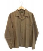 TENDERLOIN(テンダーロイン)の古着「L/Sオープンカラーシャツ」 ブラウン