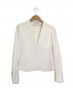 BEIGE(ベイジ)の古着「ノーカラージャケット」|ホワイト