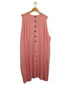 BALENCIAGA(バレンシアガ)の古着「ノースリーブニットカーディガン」|ピンク