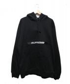SUPREME(シュプリーム)の古着「ジップポーチフーデッドスウェットシャツ」|ブラック