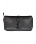 SAINT LAURENT PARIS(サンローラン パリ)の古着「YSLロゴレザー長財布」|ブラック