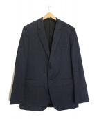 theory(セオリー)の古着「チェック柄2Bジャケット」|ブルー