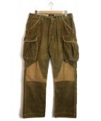 RRL(ダブルアールエル)の古着「ニーパッチドコーデュロイパンツ」|ブラウン