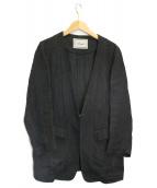 pensee(パンセ)の古着「コンチネンタルノーカラージャケット」|ブラック