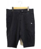 BURBERRY BLACK LABEL(バーバリーブラックレーベル)の古着「ハーフパンツ」|ブラック