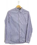 COMME des GARCONS HOMME(コムデギャルソンオム)の古着「ステッチドストライプシャツ」|スカイブルー