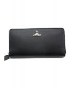 Vivienne Westwood(ヴィヴィアンウエストウッド)の古着「ラウンドファスナー長財布」|ブラック