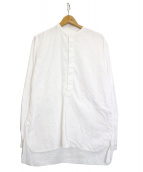 nonnative(ノンネイティブ)の古着「フランネルプルオーバーシャツ」|ホワイト
