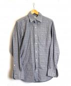 Black Fleece(ブラックフリース)の古着「グレンチェックシャツ」|グレー