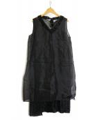 S Max Mara(エス マックスマーラ)の古着「レイヤードワンピース」|ブラック