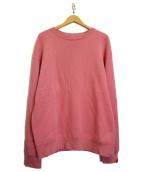 "LOOPWHEELER×BEAMS JAPAN(ループウィラー×ビームスジャパン)の古着「別注 ""桜"" 吊り裏毛ビッグスウェットシャツ」|ピンク"