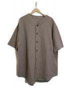 crepuscule(クレプスキュール)の古着「ベースボールシャツ」 ベージュ