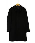 NEWYORKER(ニューヨーカー)の古着「アンゴラ混ステンカラーコート」 ブラック