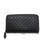 EMPORIO ARMANI(エンポリオアルマーニ)の古着「ラウンドファスナー長財布」|ブラック